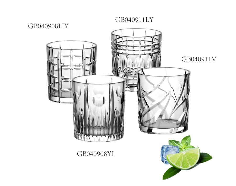 OEM custom brand whiskey glasses set with luxury engraved designs