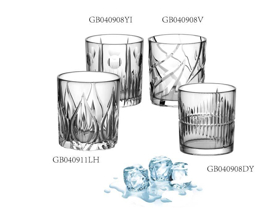 Juego de vasos de whisky de marca personalizada OEM con diseños grabados de lujo