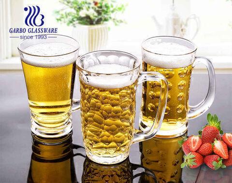 Copo grande de caneca de cerveja alemã de 14 oz com alça de copos de cerveja personalizados