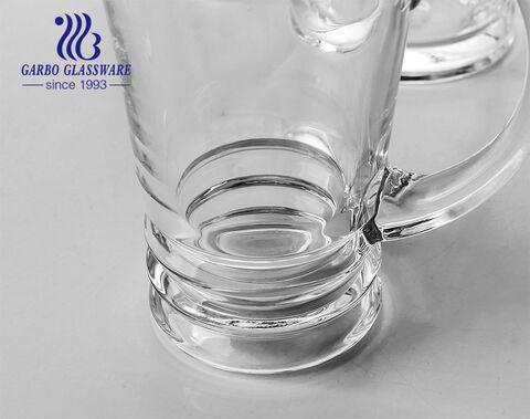 14oz large German beer mug stein glass with handle custom beer glasses