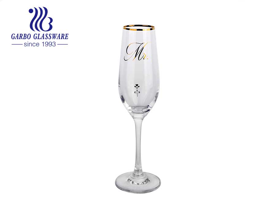 8.66OZ flower printed european style Handmade factory price wine glass wholesale	household use glass goblet