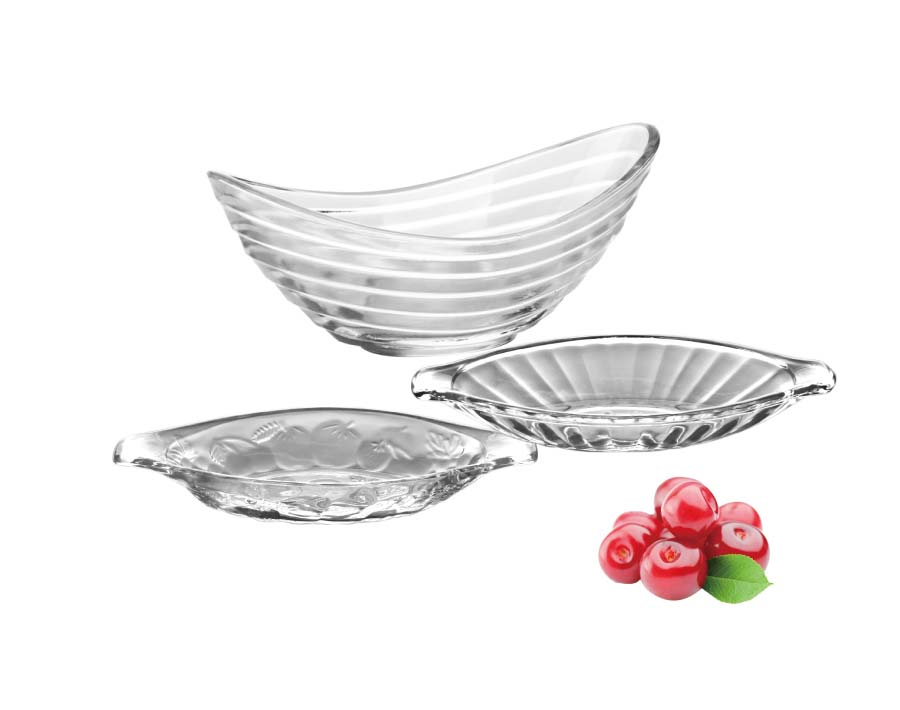 210mm Height Footed Clear Engraved  Glass Ice Cream Bowl Cup