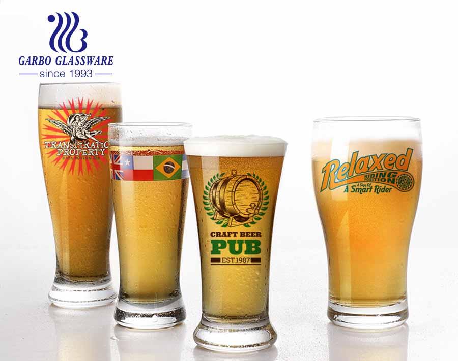 British style pub barware beer glass set of 4 with custom logo