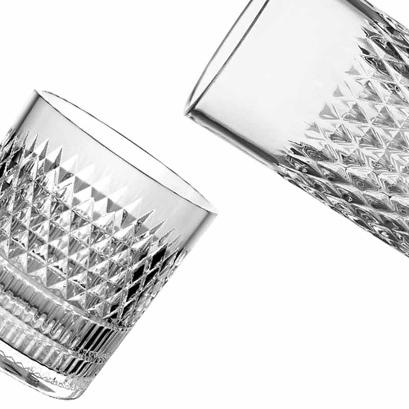 Classic 8oz and 11oz glass cup for whiskey juice beverage drinking