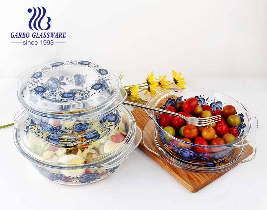1000ml OEM personality style best selling borosilicate glassware best quality cheap factory price borosilicate glass baking bowl