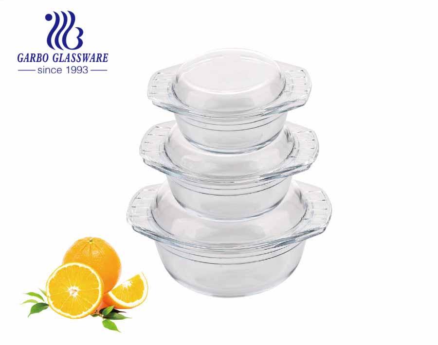 1000ml OEM Persönlichkeitsstil Bestseller Borosilikatglas Beste Qualität Günstige Fabrikpreis Borosilikatglas Backform