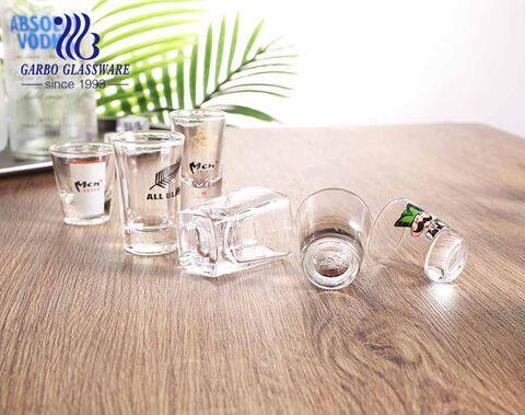 2oz Korean style soju glass cup personalized print designs shot glass