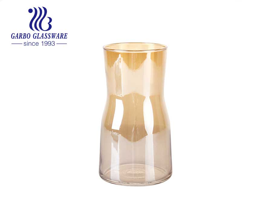 Machine blown high end tabletop glass vase wonderful flower vase with good price