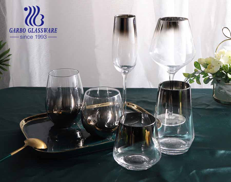 High-end Turkish style table decoration golden stamping glassware set for dinner table party