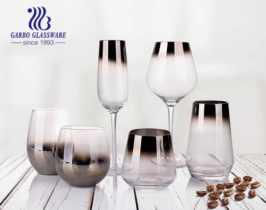 Decoração de mesa em estilo turco sofisticado conjunto de copos de vidro estampado para mesa de jantar
