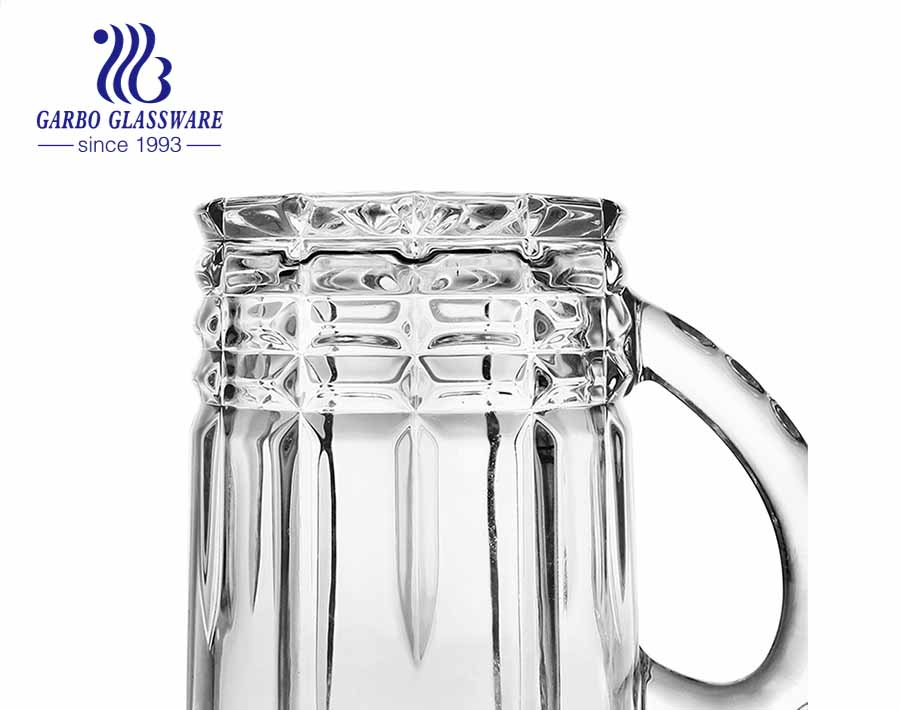 28oz embossed large beer mug stock stein glass with handle for party bar pub