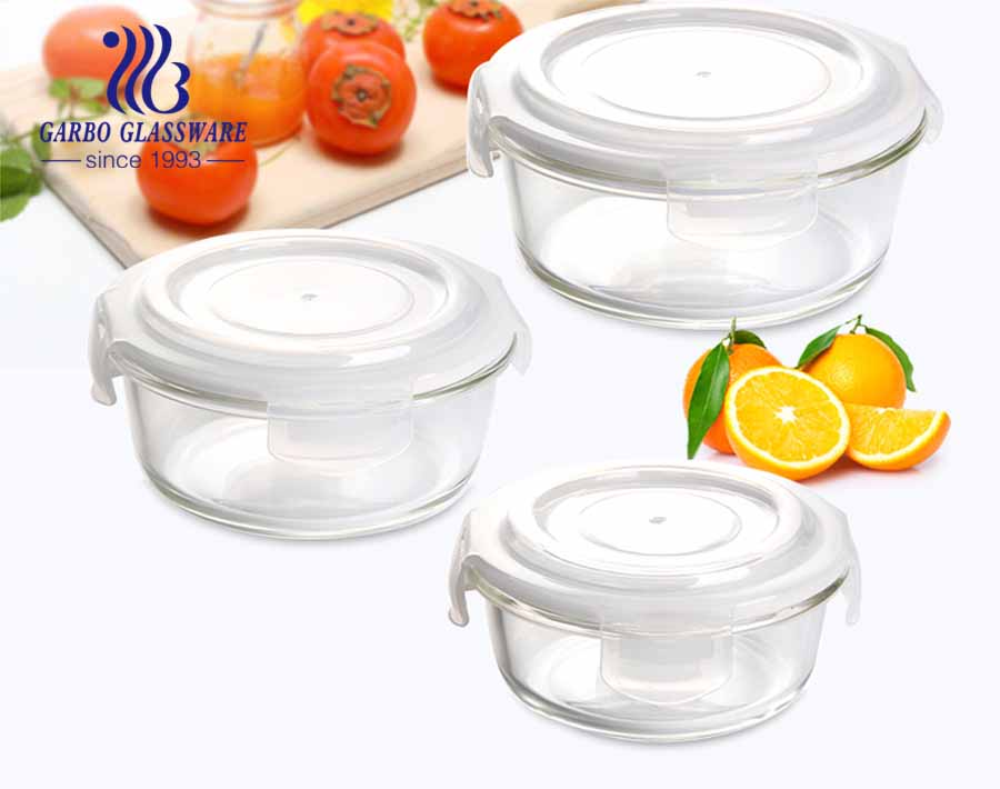 400ml Round Glass Food Storage Containers for oven safe