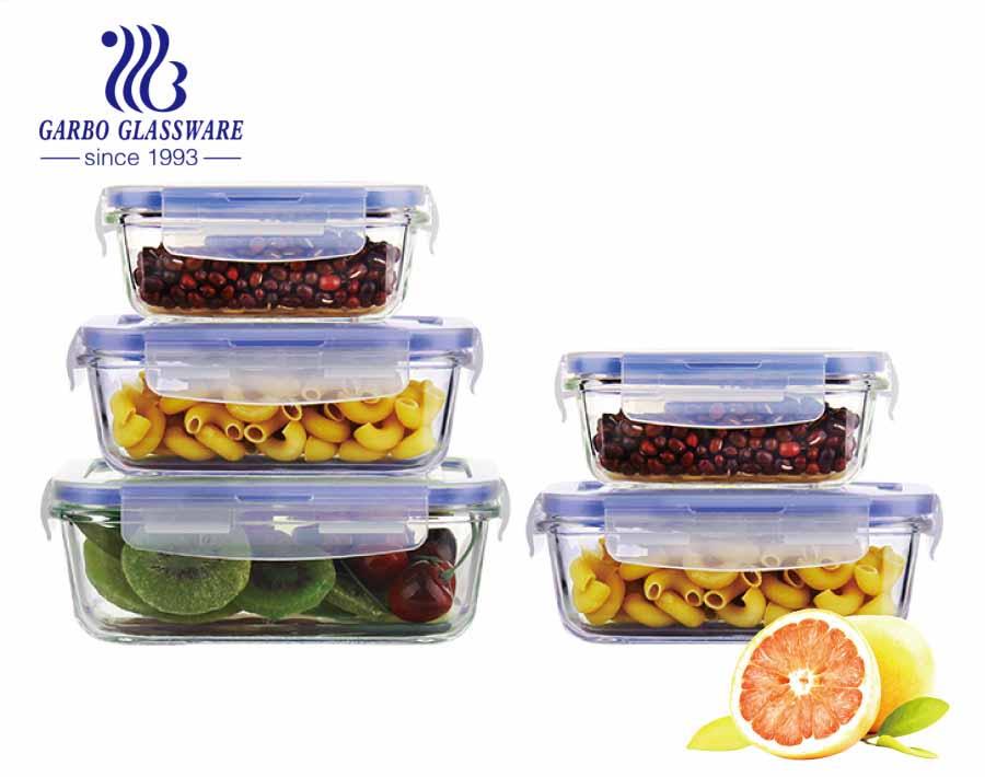 Recipientes de armazenamento de alimentos de vidro redondo de 400ml para forno