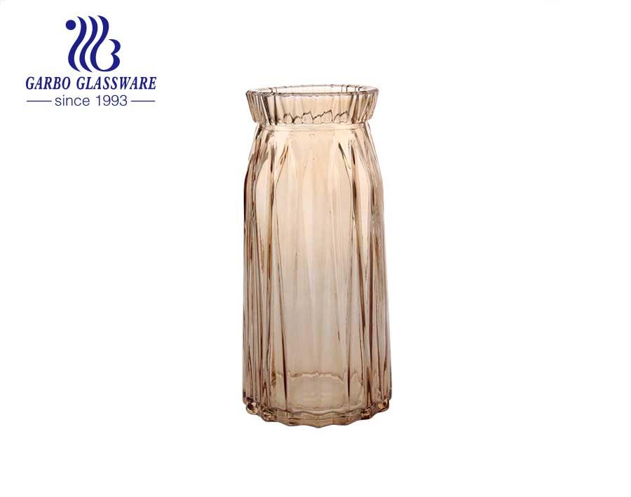 Diamond Purple Tabletop Glass Flower Vase Decorative bottle
