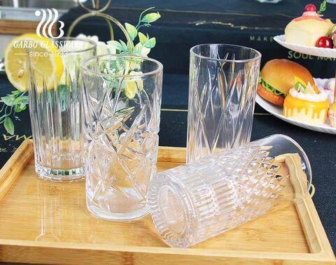 Garbo Glassware China Fabrik exklusive Designs graviert 14oz Glasbecher Set