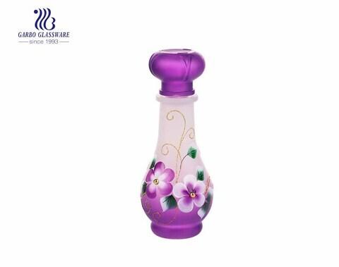 Garrafa de vidro roxa com tampa hermética Garrafa de cerveja de vidro decantador de vinho