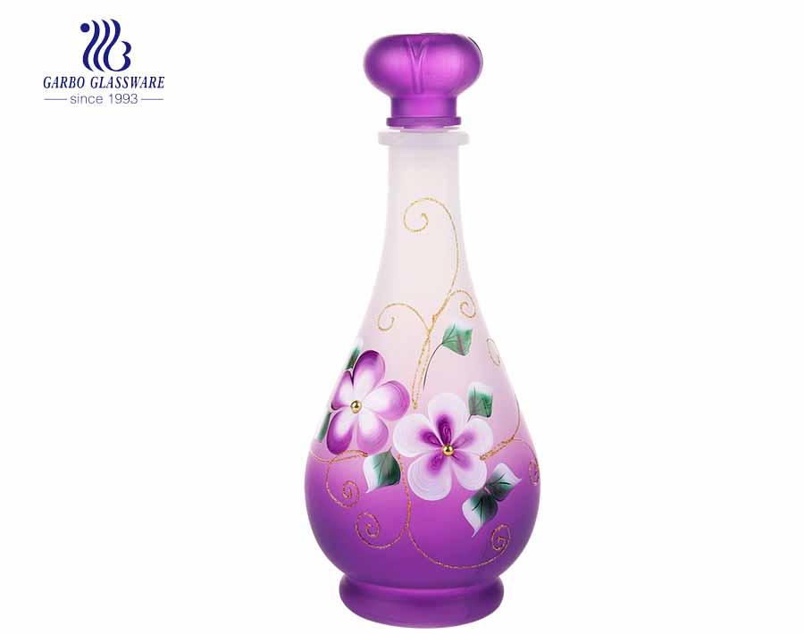 Botella de vidrio púrpura con tapón hermético Botella de cerveza de vidrio Decantador de vino