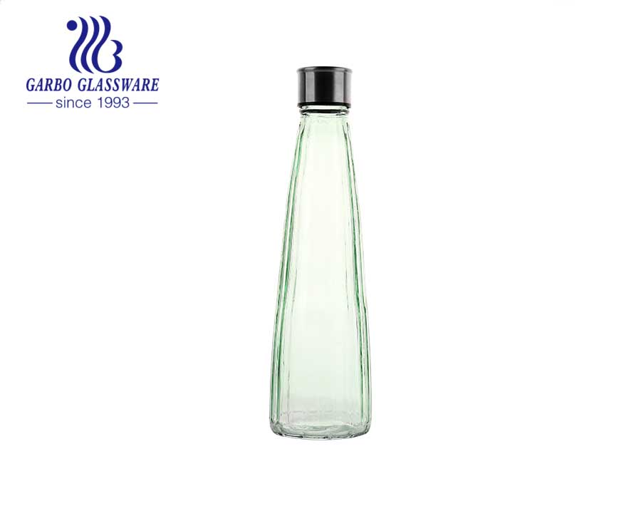18 ounces  Glass Bottle for juice milk and beer and glass storage jar with lid
