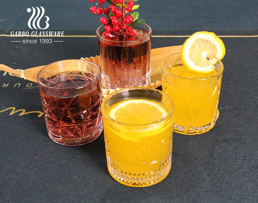 2020 exclusive new designs 8oz glass cup for whisky juice beverage