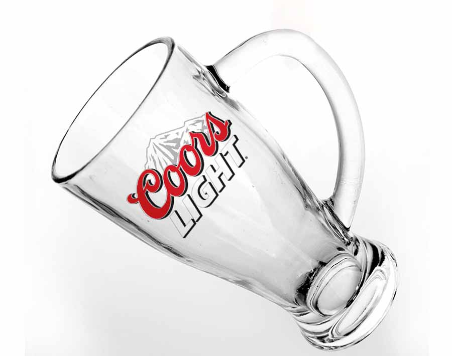 Personalized beer mugs large custom decals beer glasses for home bar as gifts