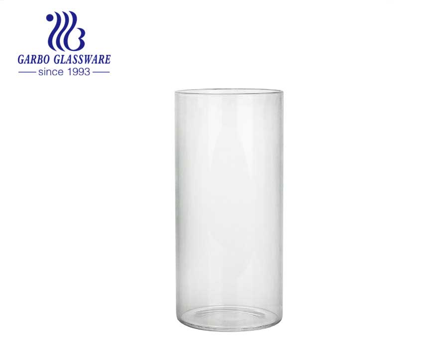 CE/EU certification Borosilicate Glass Cup Reusable wholesale household use Innovative for wedding transparent	decorative glass cup