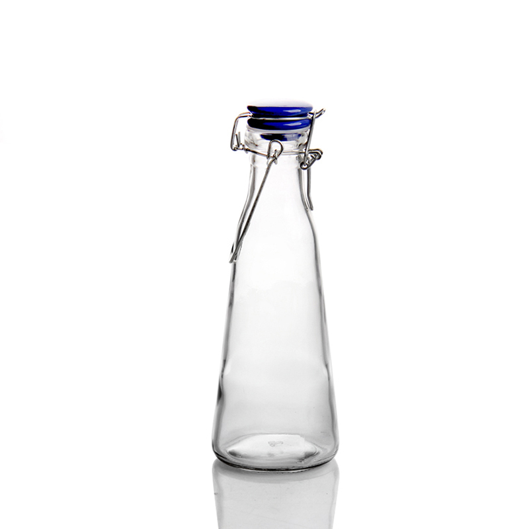 14oz Slim Waist Design Glass bottle water drinking jug for juice milk
