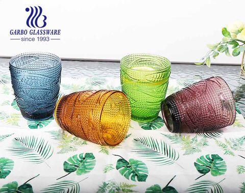 300ml bernsteinfarbener Glasbecher mit einfarbigem Glas für Geschirr