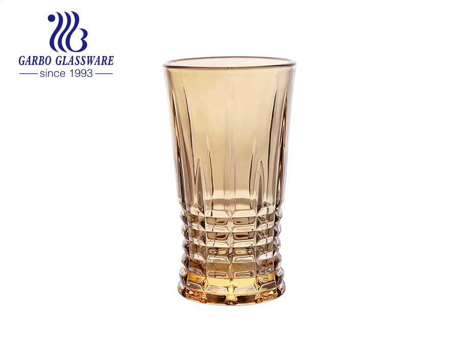 DIAMOND brand in stock ion electroplated engraved glass cups