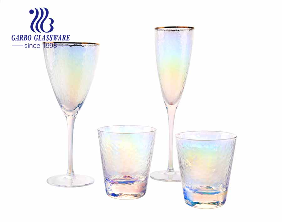 9oz Colorful Amazon top seller  Eco-friendly wine glass for wedding decorative glass stemware