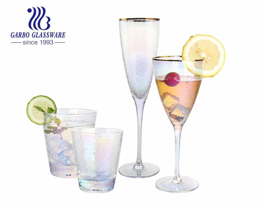 9oz Bunter Amazon-Top-Seller Umweltfreundliches Weinglas für dekorative Glasgläser für Hochzeiten