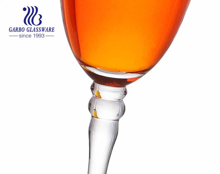 7oz best quality decorative diamond Champagne glass lead free crystal decal logo for sale stemware glass