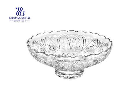 Placas de postre de frutas de vidrio de diseño especial de alta gama de 10.5 pulgadas para uso de mesa