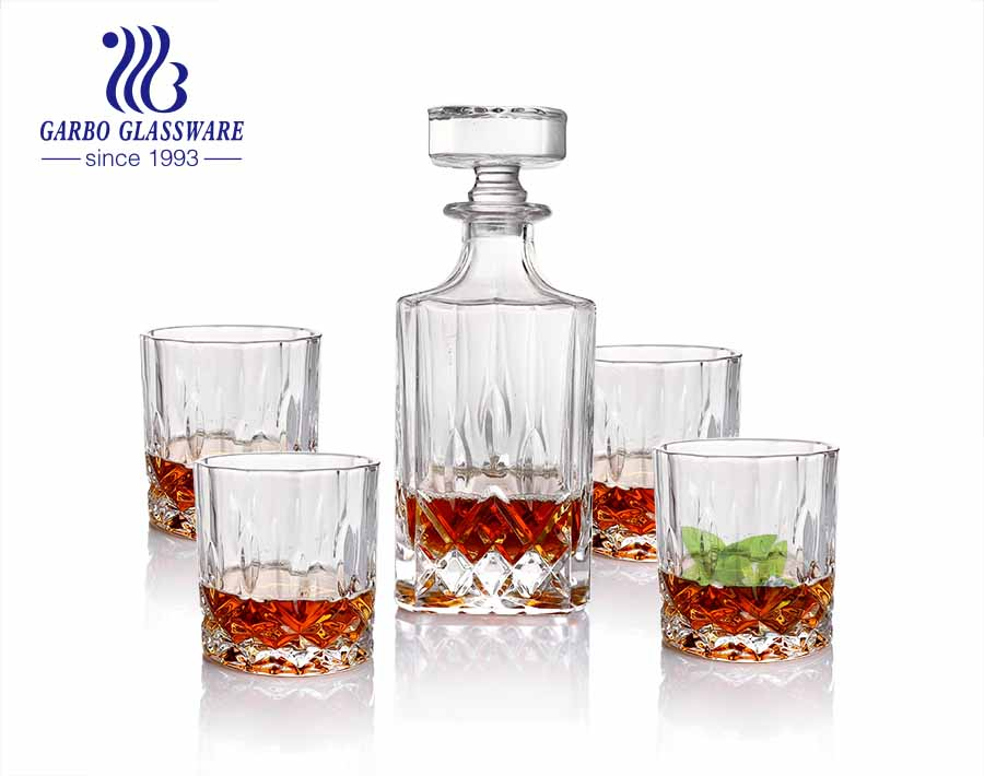 Decanter Drinking Set Men Gifts Whisky Decanter Tumbler Set for Liquor Scotch Bourbon or Wine