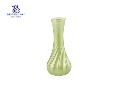 Florero de cristal de moda de mesa de uso de boda verde de Color caramelo colorido 6 pulgadas de altura Ideal para decoración del hogar