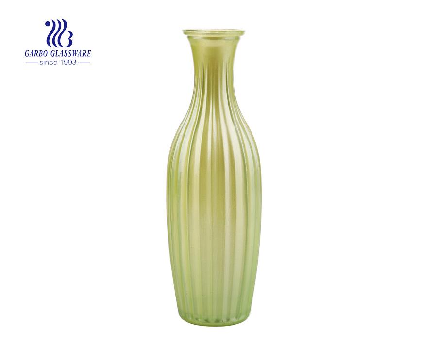 لون الحلوى الملونة الأخضر الزفاف استخدام منضدية أزياء الزجاج زهرة زهرية 6 بوصة الارتفاع مثالية تزيين المنزل حاملي الزجاج