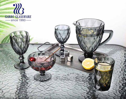 Vasos de vidrio para beber de agua de alta calidad de 350 ml con color sólido al por mayor para uso doméstico