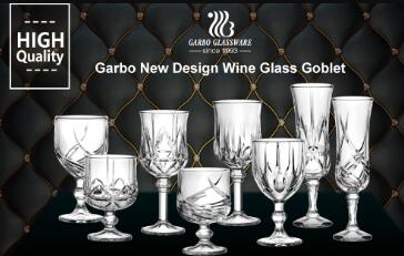 Garbo Weekly Promotions: New and unique design of engraved glass stemware