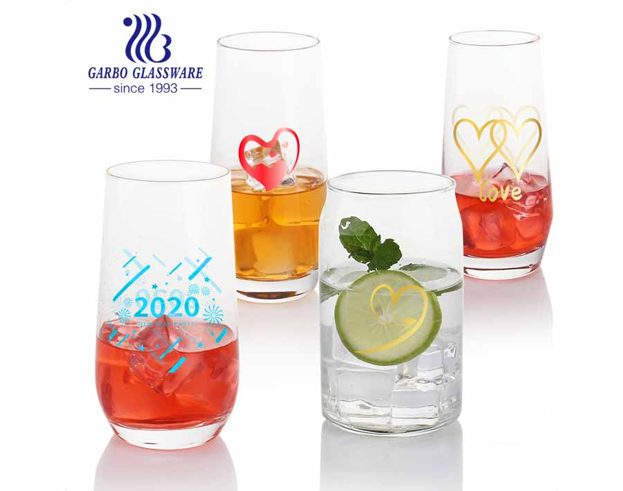 Machine blown can shape beer glass tumblers glass barware for beverage