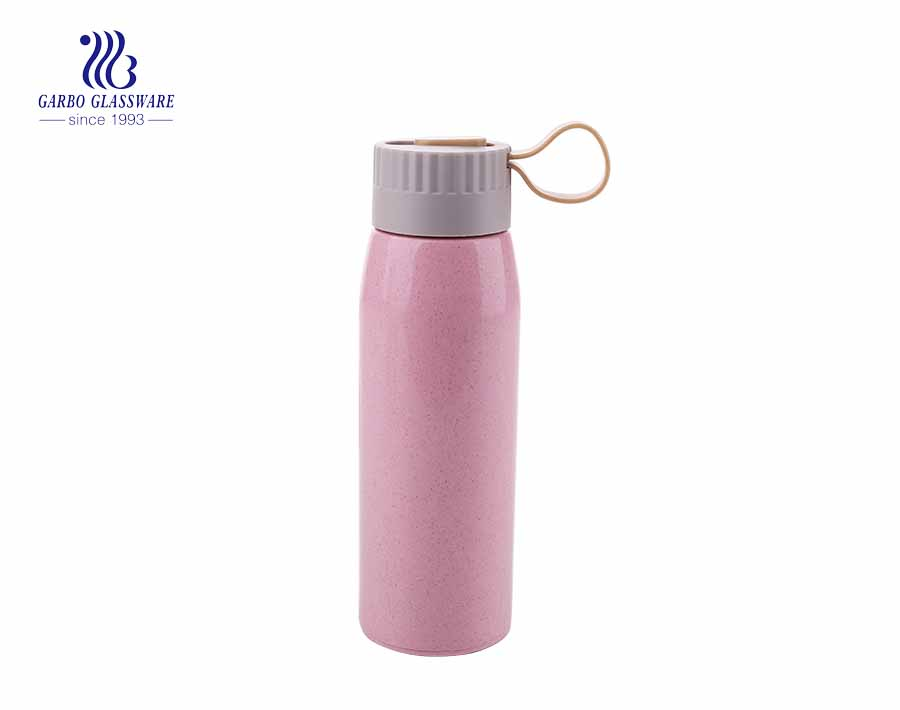 Glass Bottle 18oz colorful outdoor sporty glass bottle with heat resistant cloth