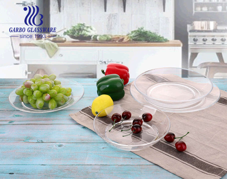 8.5-inch 1.6L simple glass fruit salad bowl for home hotel restaurant using