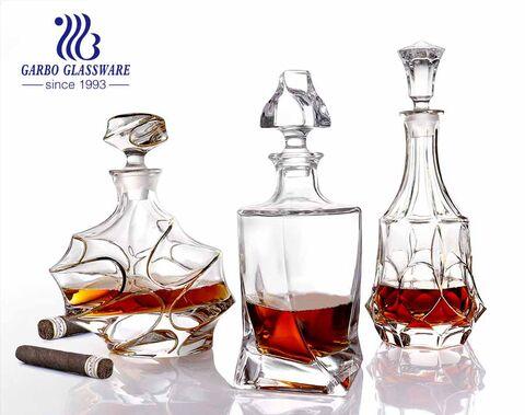 El mejor whisky para decantador juego de decantador y vaso de whisky con borde dorado con sello hermético