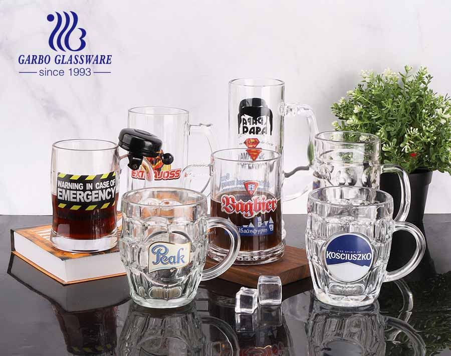 258ml custom beer glasses 9oz personalized beer mugs with printing logos