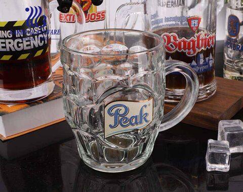Vasos de cerveza personalizados de 258 ml Tazas de cerveza personalizadas de 9 oz con logotipos de impresión