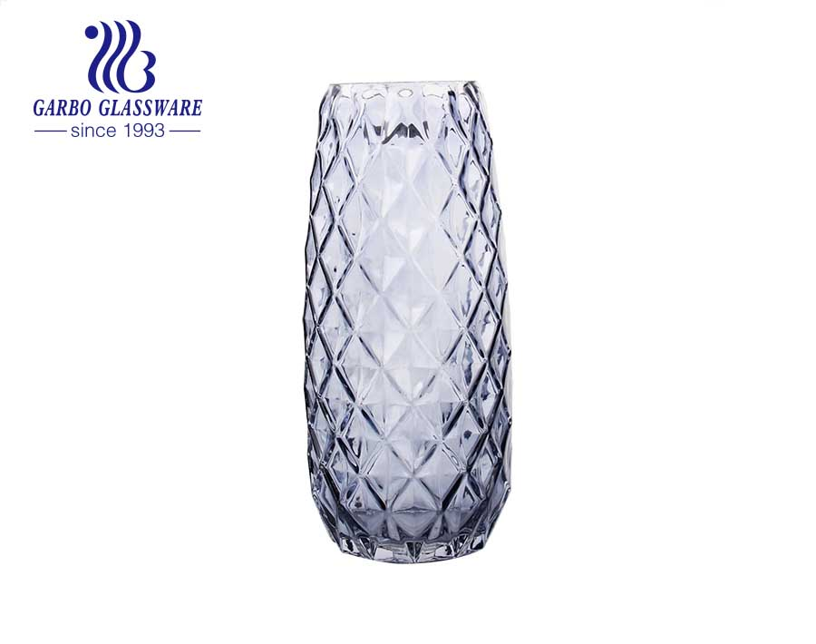 Diamond Purple Tabletop Glass Flower Vase Decorative bottle
