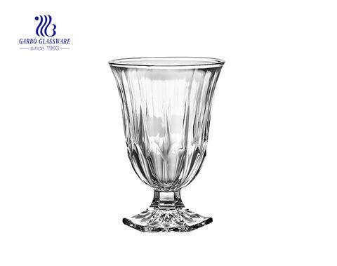 Taza de helado transparente transparente con patas Tazón de vidrio sin plomo de 12 onzas taza de postre tazón de ensalada