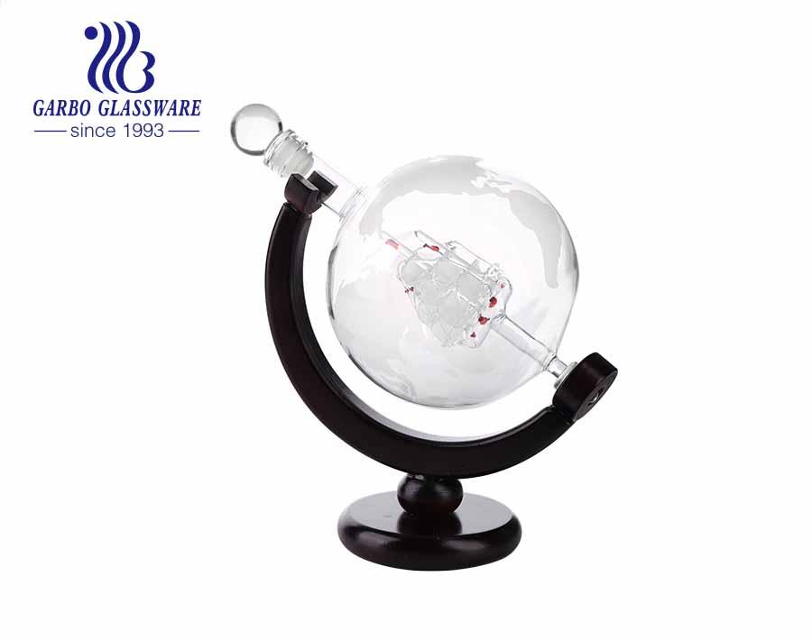 Amazon Global Design Whiskey Wine Decanter Set Crystal Globe Wine Decanter