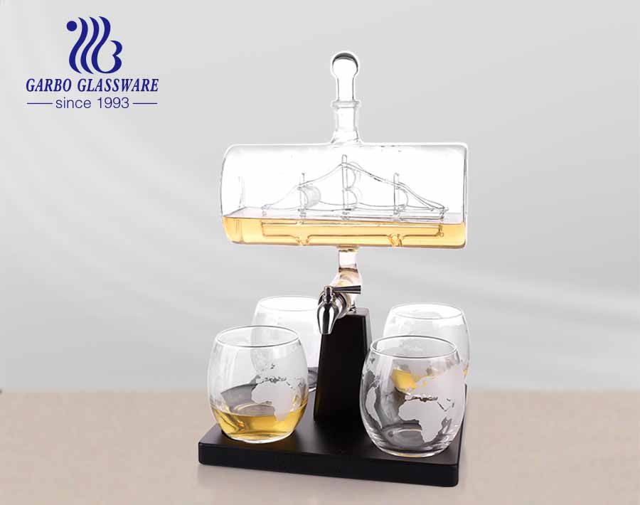 Crytal Sailboat Wine Decanter Amazon Global Decanter Set with Tap