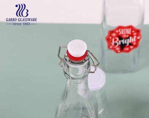 Botella de vidrio Shine like a bright star 19oz water bottel soporte de almacenamiento de jugo botella de cerveza con tapa de bloqueo