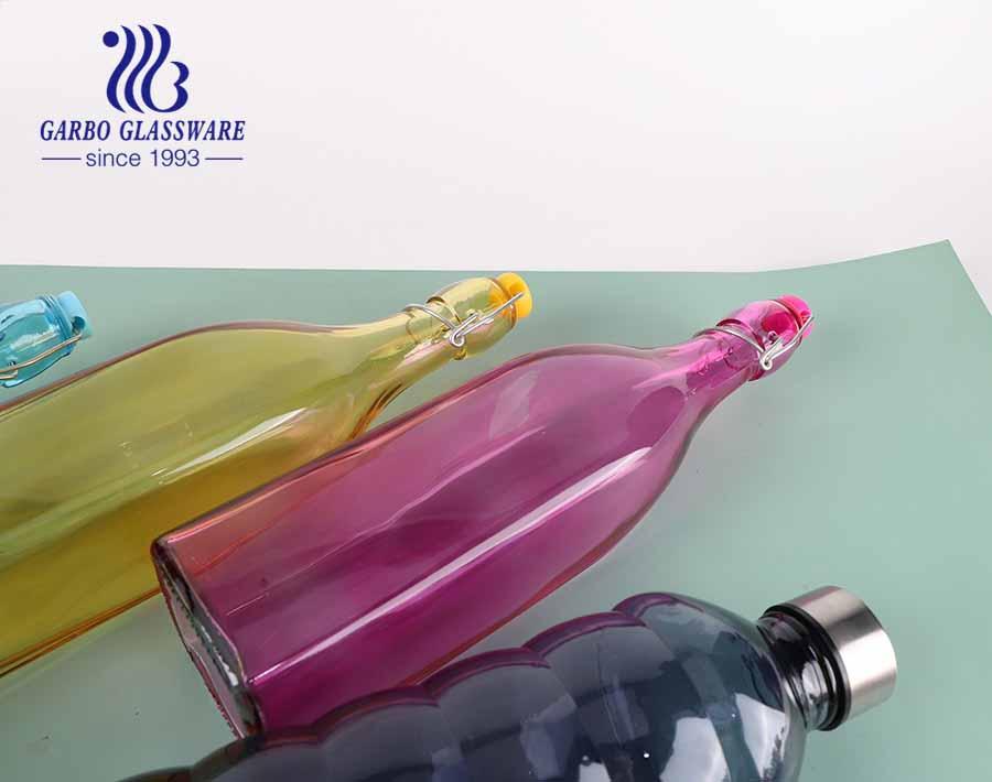 Glasflasche Glänzen wie ein heller Stern 19oz Wasserflasche Saft Aufbewahrungshalter Bierflasche mit Verschlussdeckel