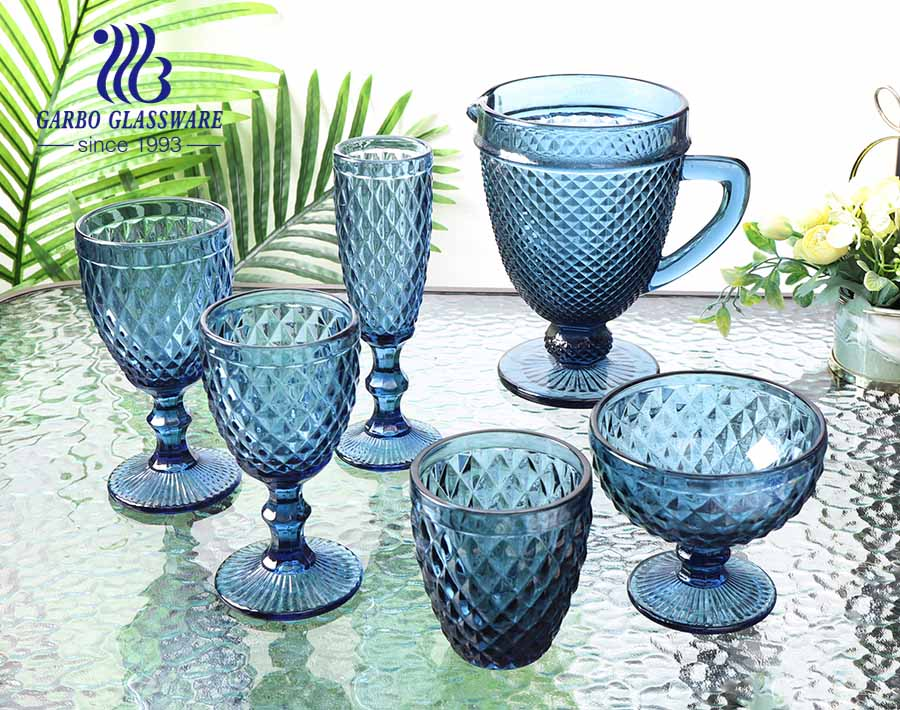 1300ml high quality solid color glass pitcher for restaurant using customized decorative glassware